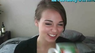 Shy Teen Teases And Rubs Pussy On Cam 1