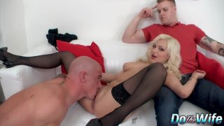 Dejected Husband Has to Watch His Wife Nataly Real Fuck a Complete Stranger