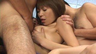 Short haired Japanese Jun Kusanagi desires to have a gang bang